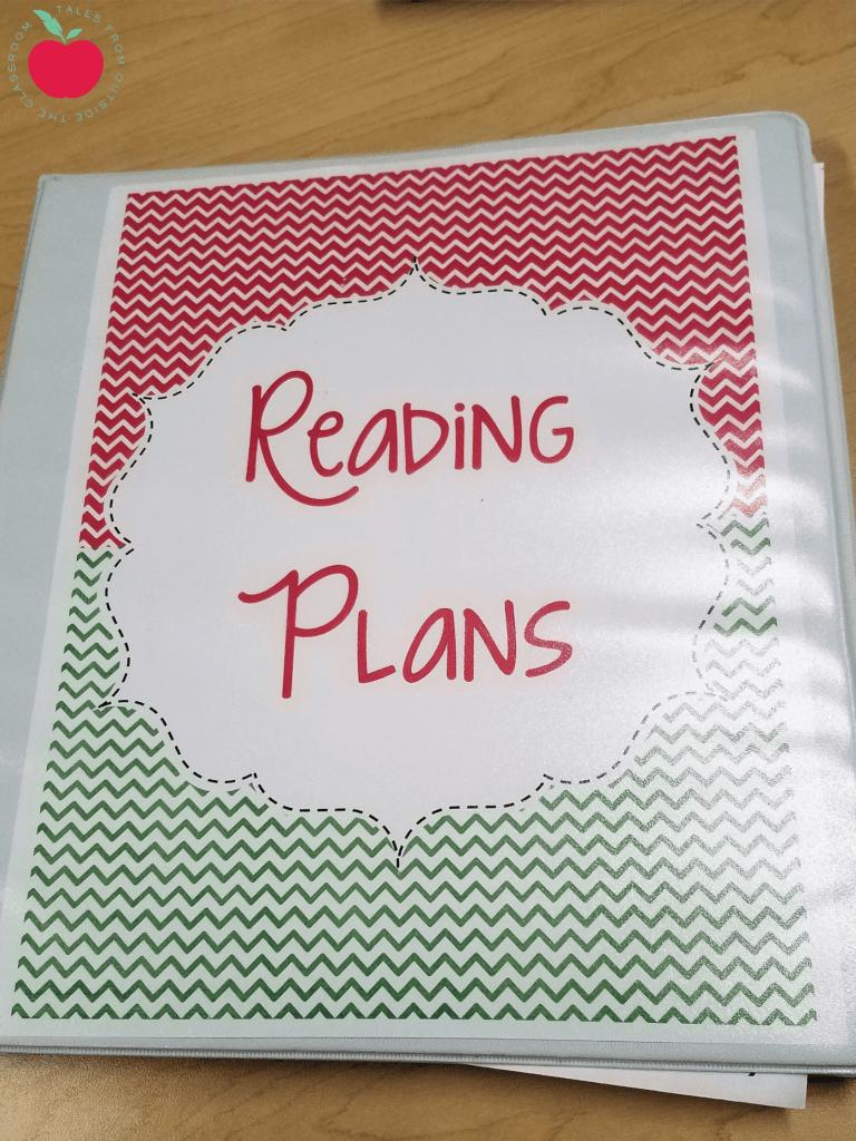 Guided reading plan binder
