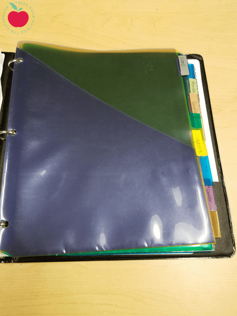 Guided reading organizational and planning tips for Reading binder cover