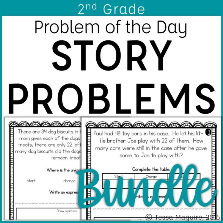 2nd Grade Problem of the Day Story Problems Bundle