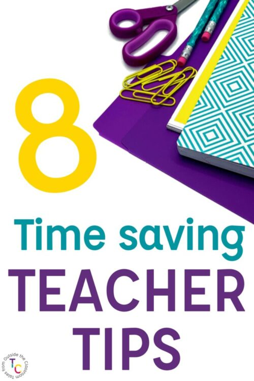 8 Time Saving Teacher Tips with school supplies