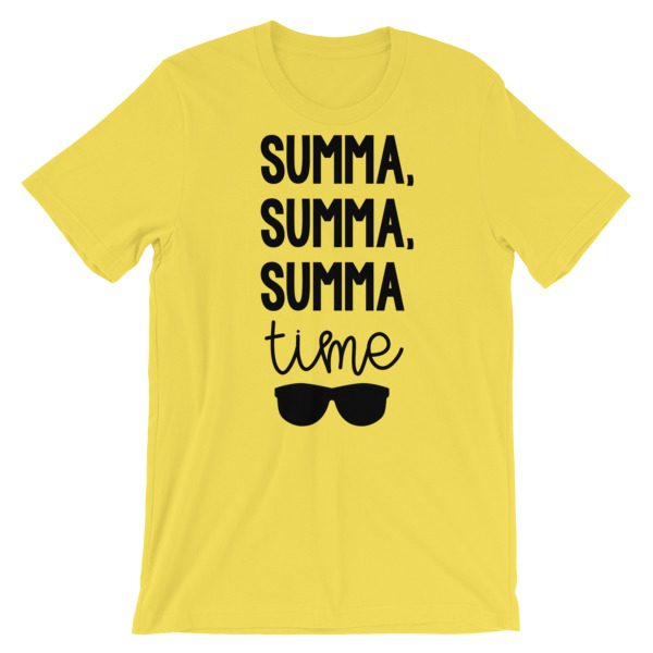 Summa, summa, Summa time tee yellow