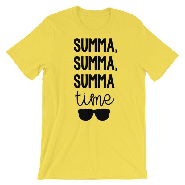 Summa, summa, Summa time tee yellow