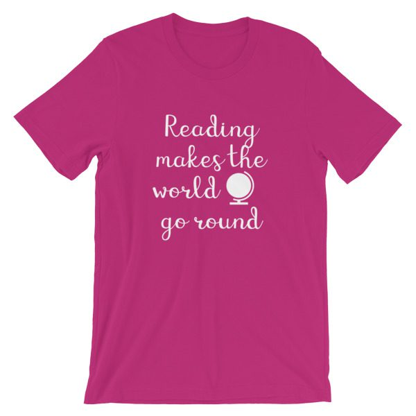 Reading makes the world go round tee berry