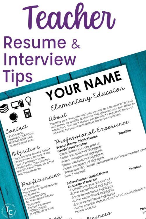 Teacher Resume & Interview Tips