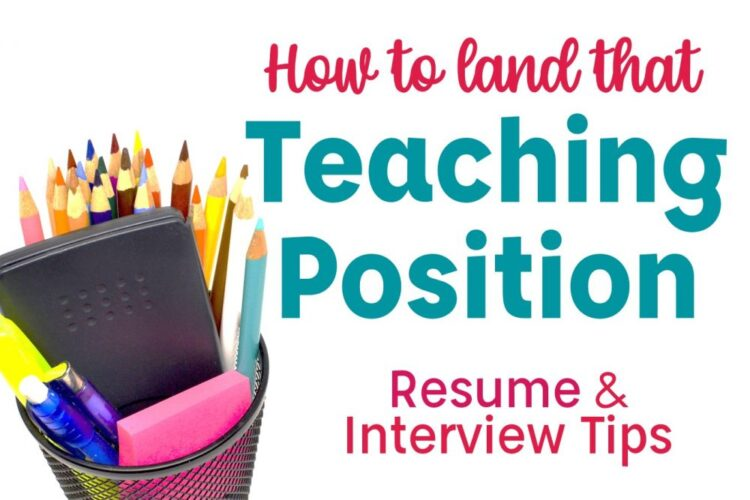 How to Land that Teaching Position