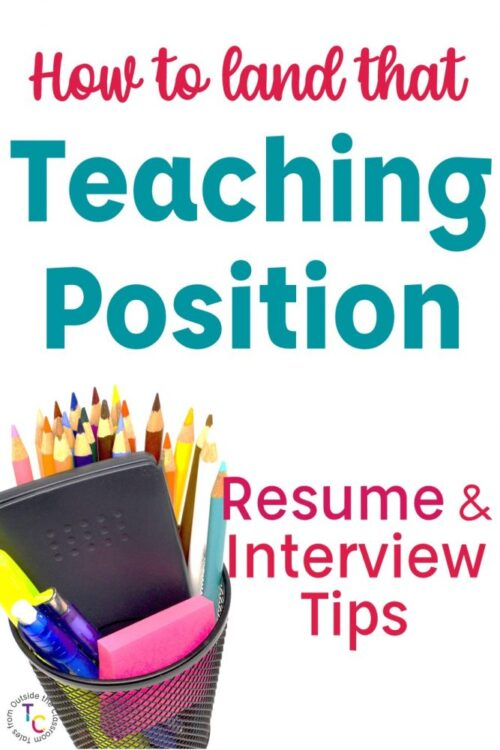 Teacher resume and interview tips