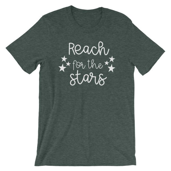 Reach for the stars tee heather forest