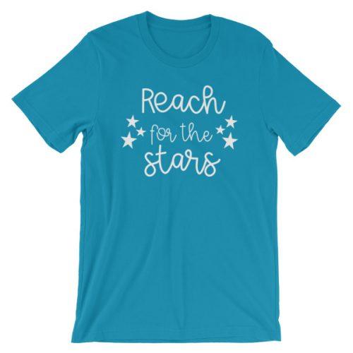 Reach for the stars tee aqua
