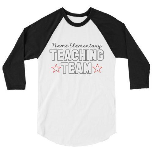 Custom teaching team tee
