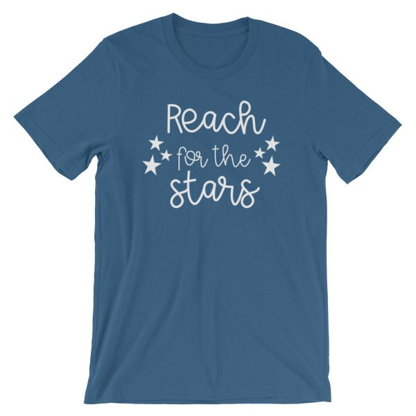 Reach for the stars tee steel blue