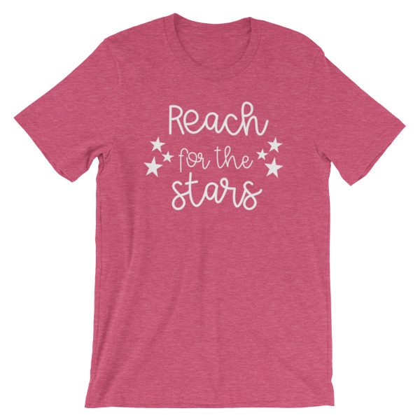 Reach for the stars heather pink