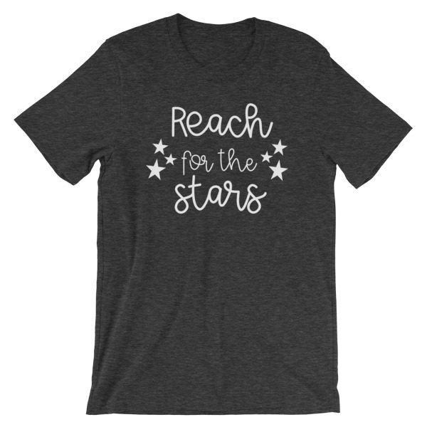 Reach for the stars tee dark grey heather
