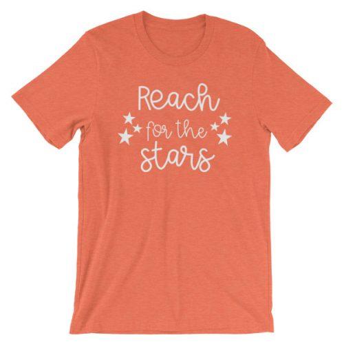 Reach for the stars tee heather orange
