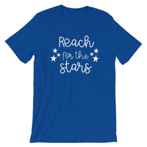 Reach for the stars tee royal blue