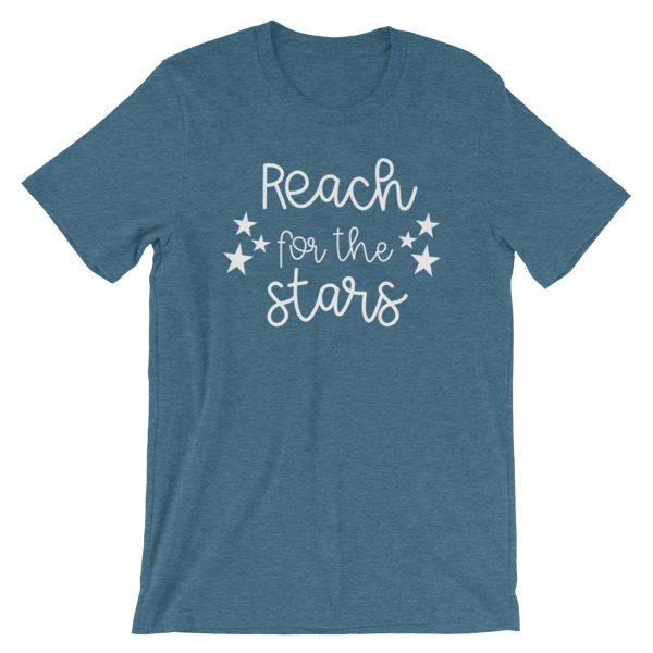 Reach for the stars tee dark heather teal