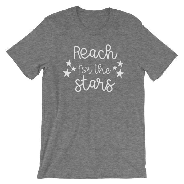 Reach for the stars tee deep heather gray