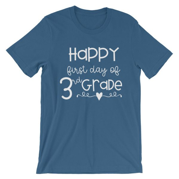 Steel blue Happy First Day of 3rd Grade t-shirt