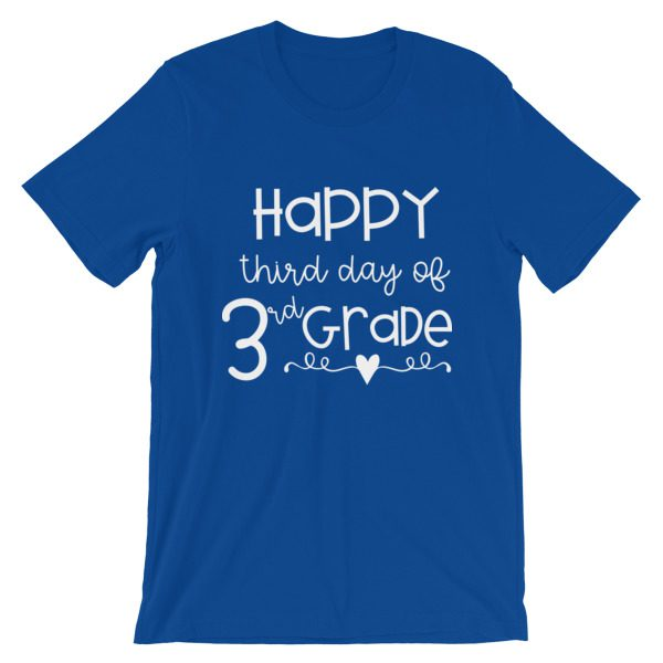 Navy blue Happy Third Day of 3rd Grade tee