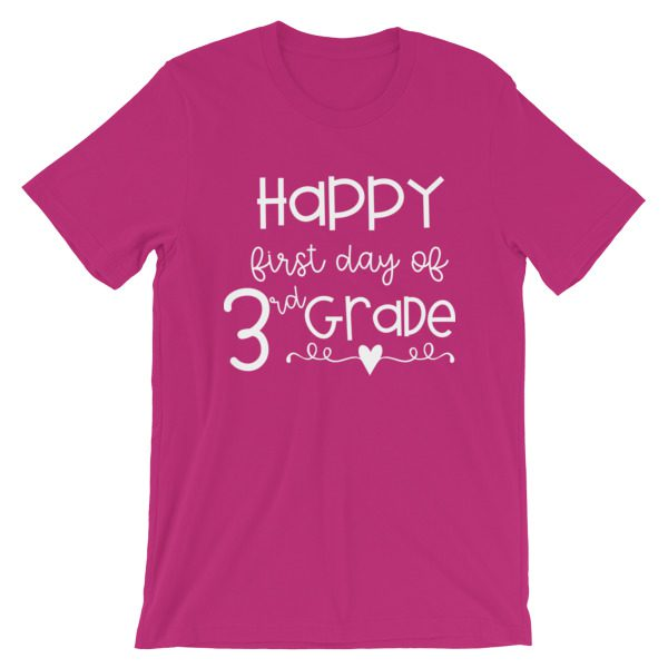 Berry Happy First Day of 3rd Grade t-shirt