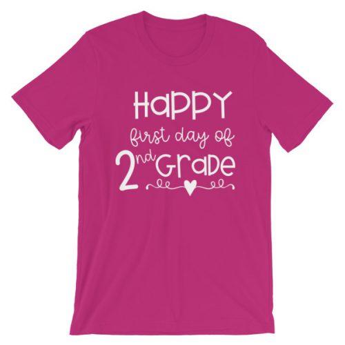 Berry First Day of 2nd Grade teacher tee