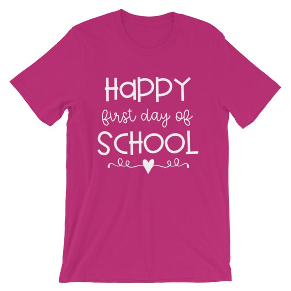 Berry Happy First Day of School t-shirt