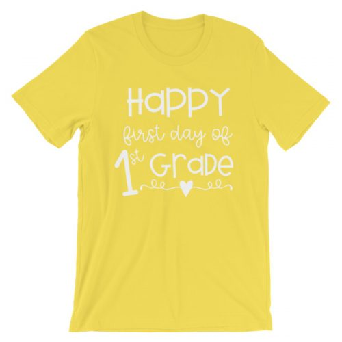 Yellow First Day of 1st Grade tee