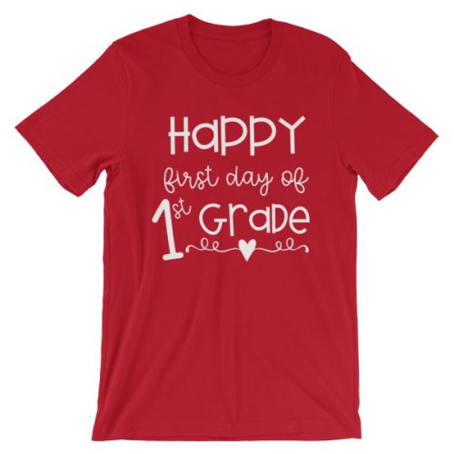 Red First Day of 1st Grade tee