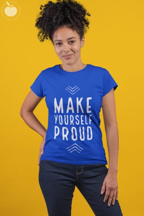 Make Yourself Proud tee on female of color