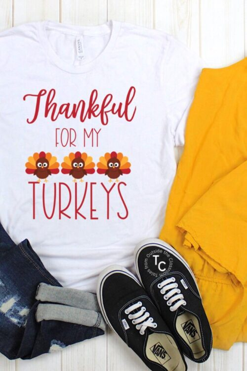 Thankful for my turkeys short sleeve tee