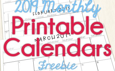 2019 Calendars for the Classroom