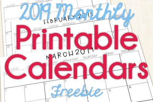 2019 Calendars for the Classroom