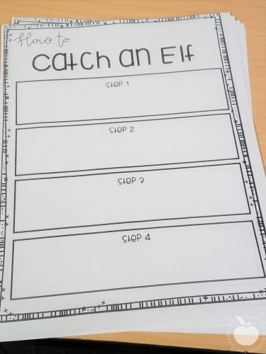 How to Catch an Elf Writing PLan