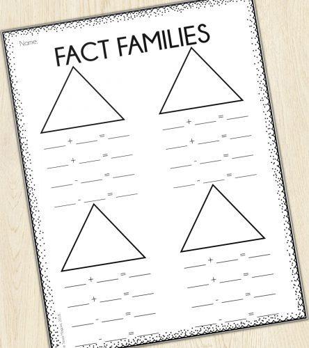 Fact Family Printable