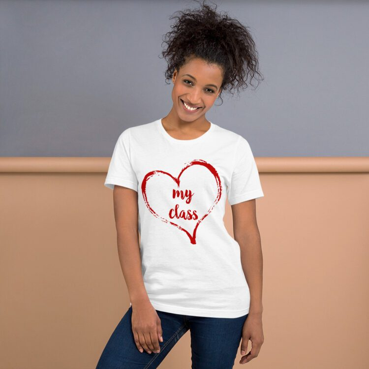 Love my Class tee- White and Red