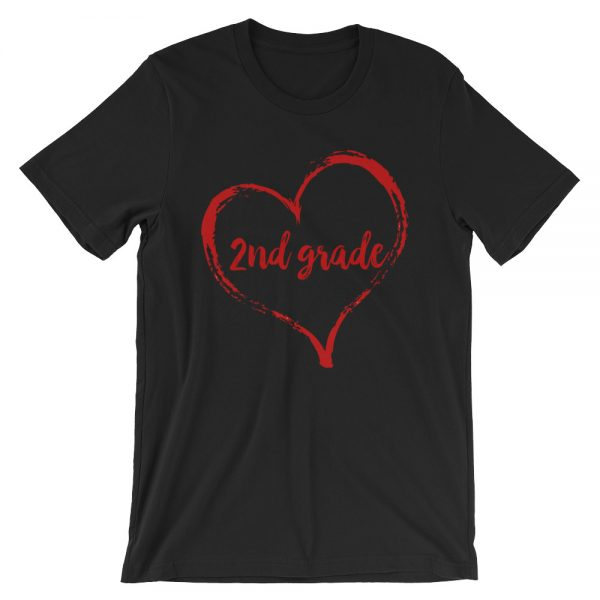 Love 2nd Grade tee- Black with red