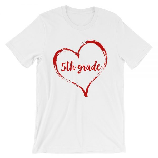 Love 5th Grade tee- White with red