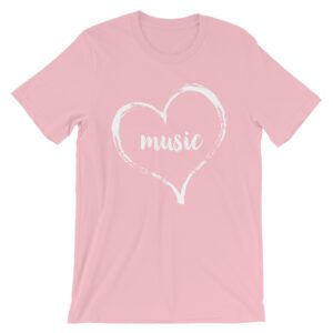 Love Music tee- Pink and White