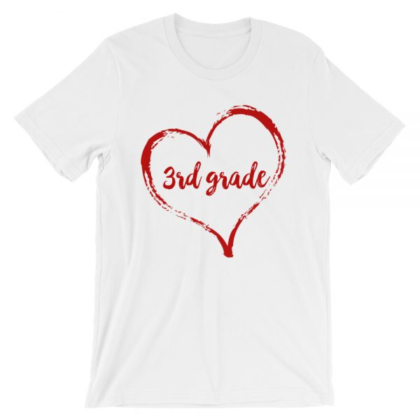 Love 3rd Grade tee- White with red