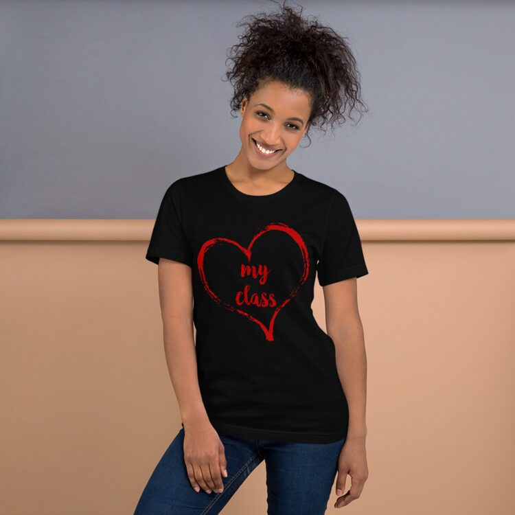 Love my class tee- black and red