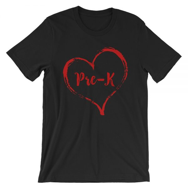Love Pre-K tee- Black with Red