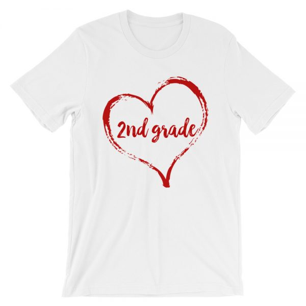 Love Second Grade tee- White with red
