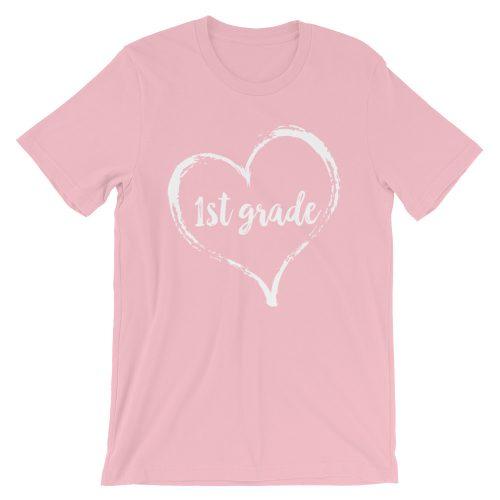 Love First grade tee- Pink