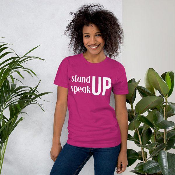 Stand Up Speak Up Tee- Berry