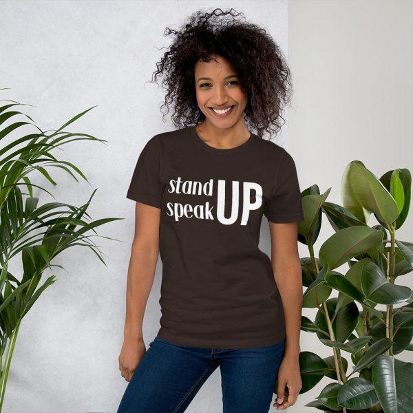 Stand Up Speak Up tee- Brown