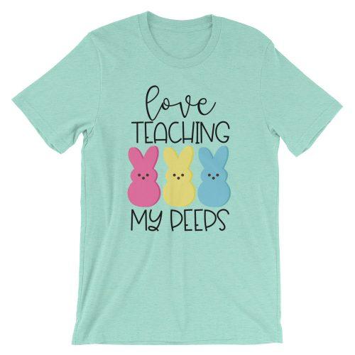 Love Teaching My Peeps Mint tee
