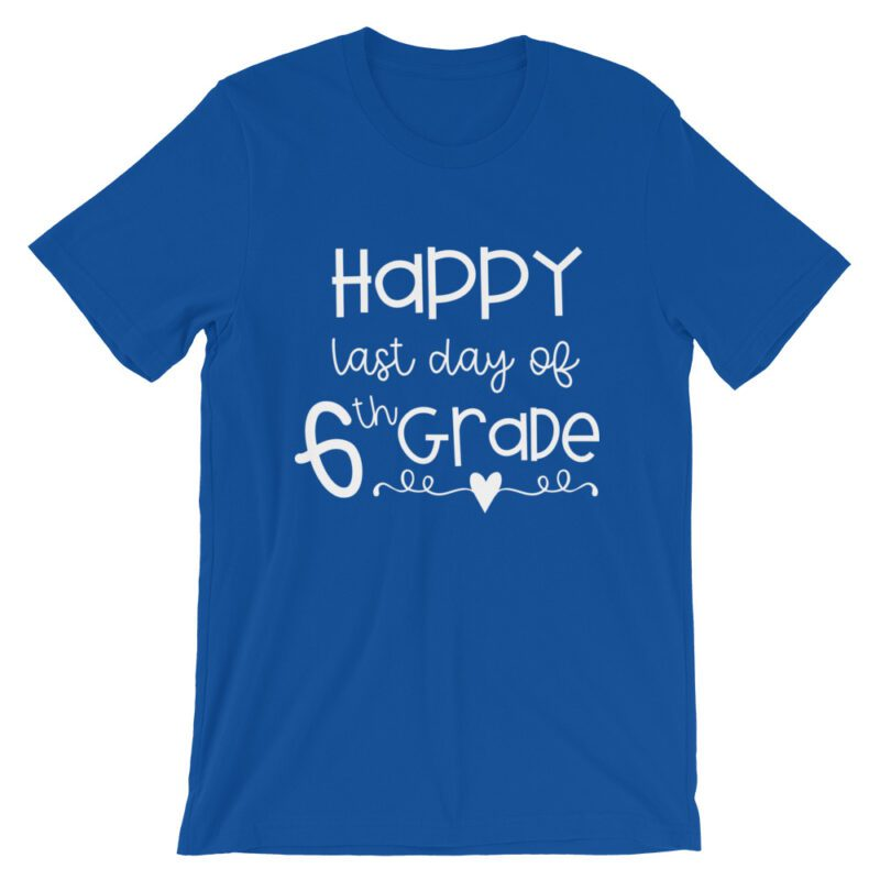 Royal Blue Last Day of 6th Grade tee