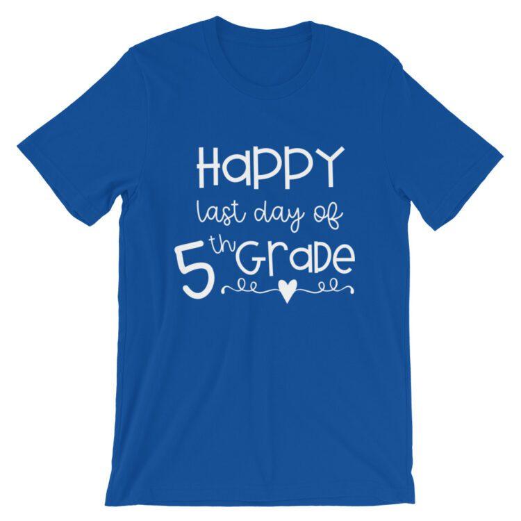 Royal Blue Last Day of 5th Grade tee