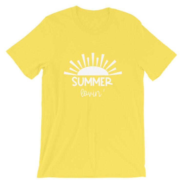 Yellow Summer Lovin Teacher Tee