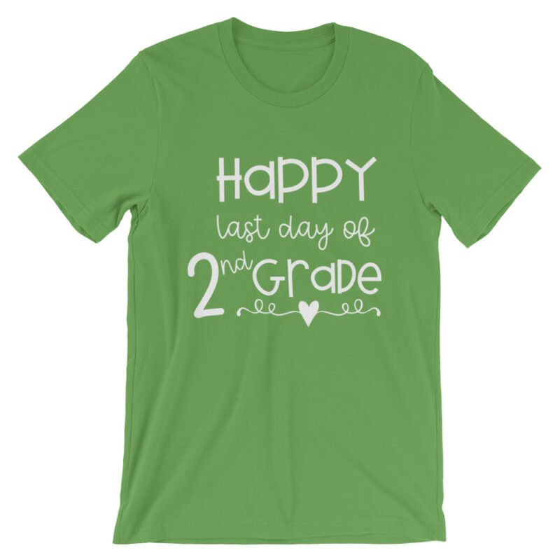 Leaf Green Last Day of 2nd Grade tee