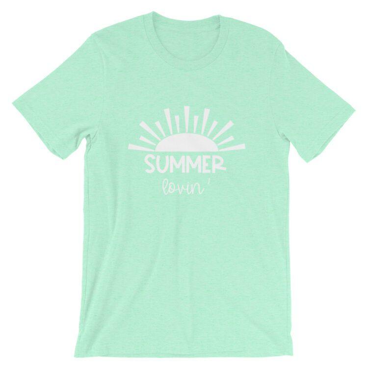 Summer Lovin Heather Mint tee